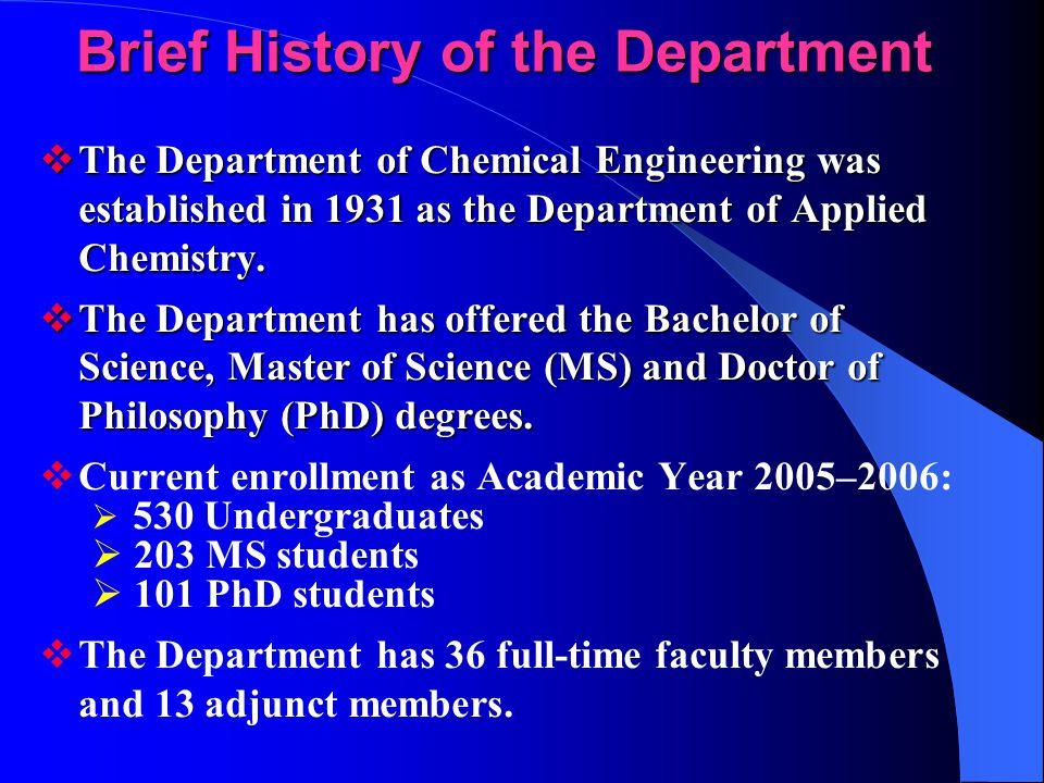 Department of Chemical Engineering NCKU