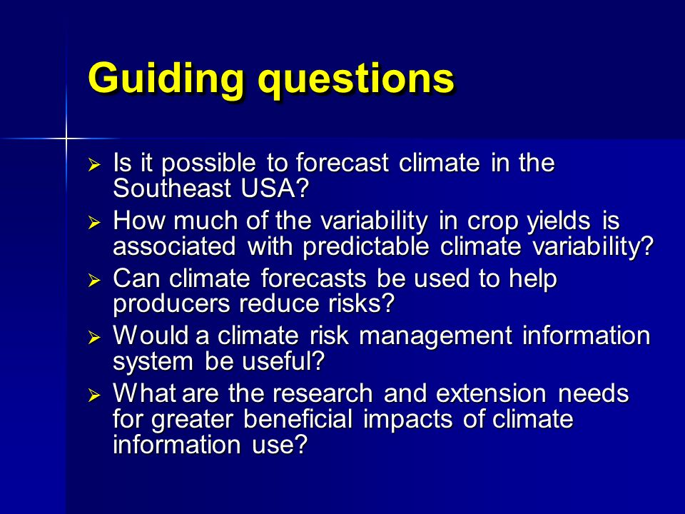 How do we develop a sustainable system for AgClimate forecasts.