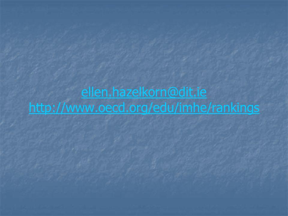 ellen.hazelkorn@dit.ie http://www.oecd.org/edu/imhe/rankings