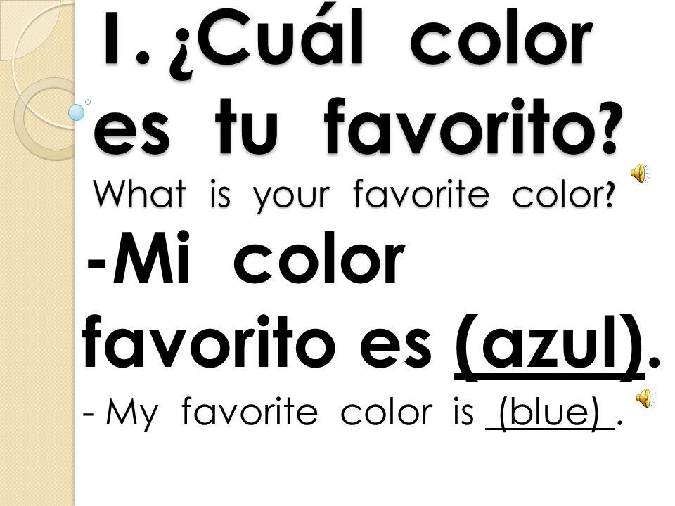 Los Colores The Colors