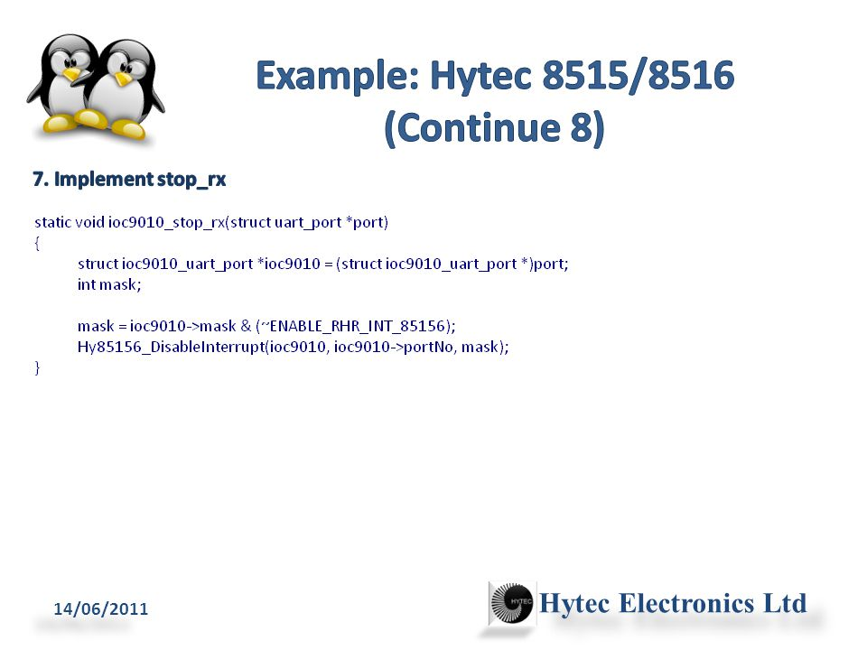 14/06/2011 Hytec Electronics Ltd /* Enable interrupts */