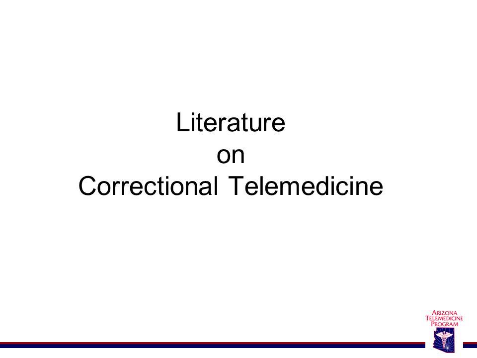 Literature on Correctional Telemedicine