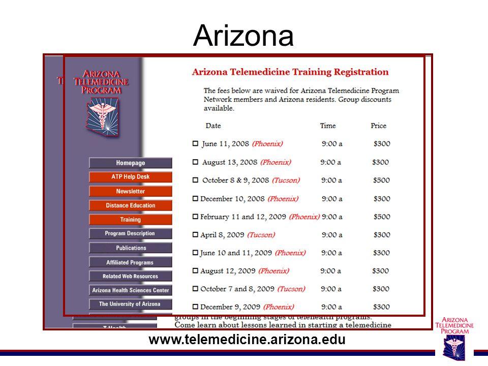 Arizona www.telemedicine.arizona.edu