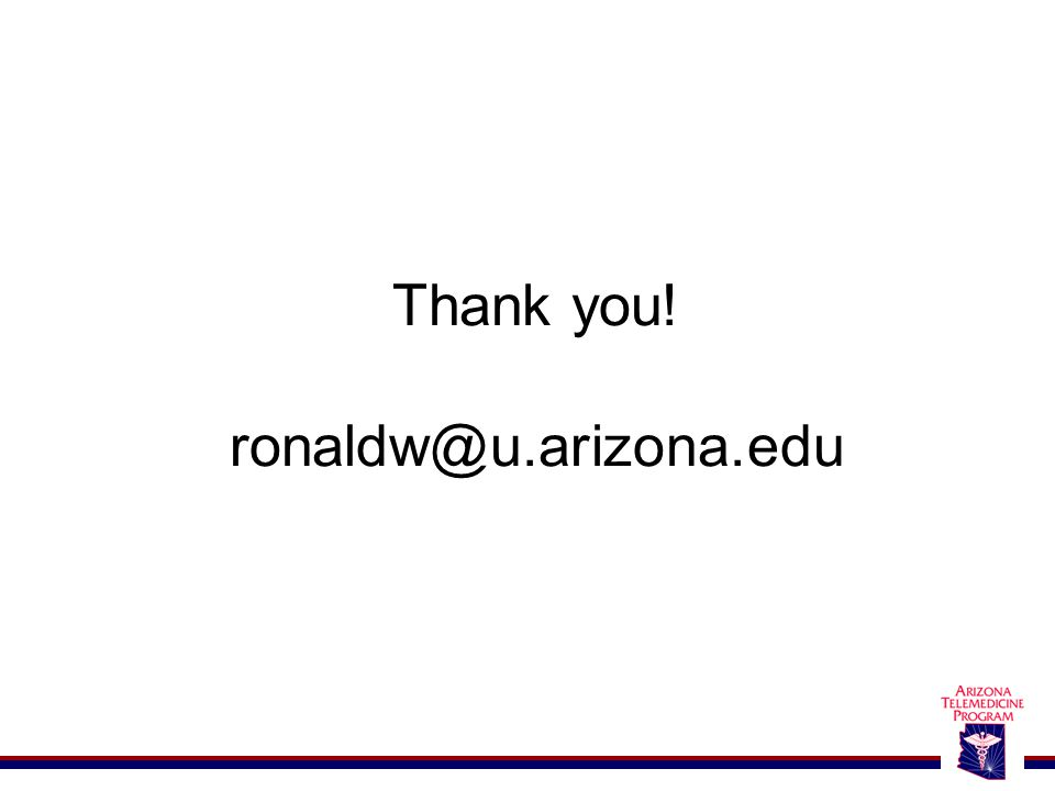 Thank you! ronaldw@u.arizona.edu