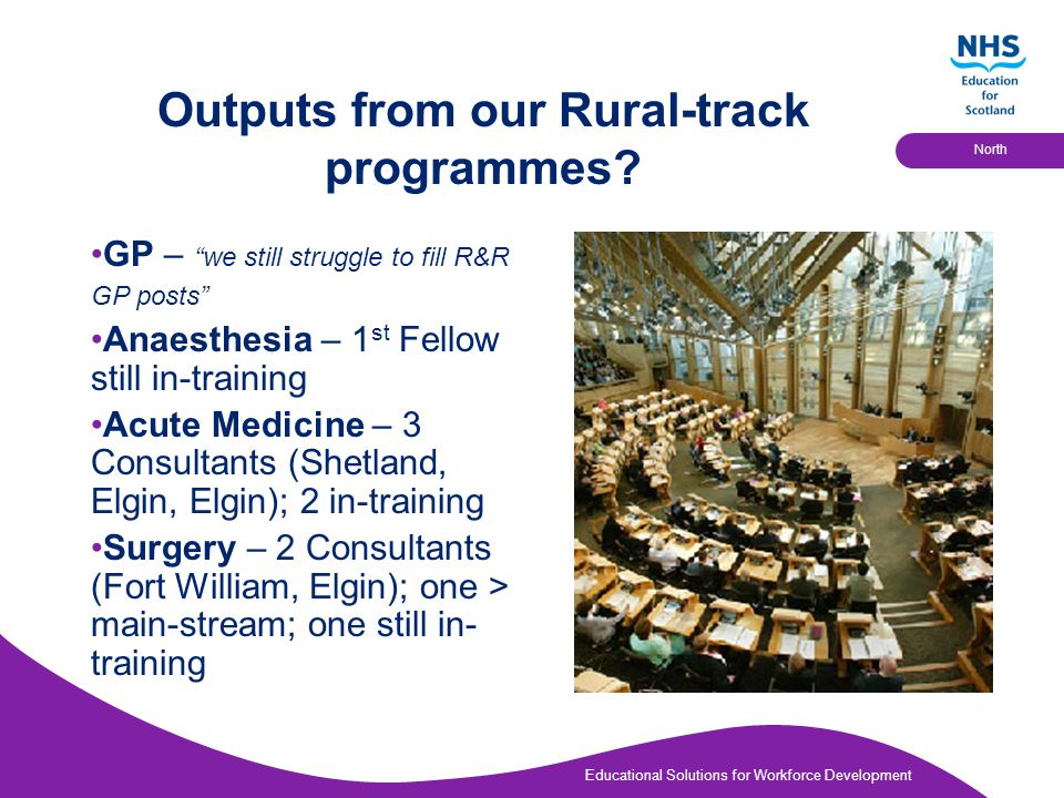 Educational Solutions for Workforce Development North Outputs from our Rural-track programmes.