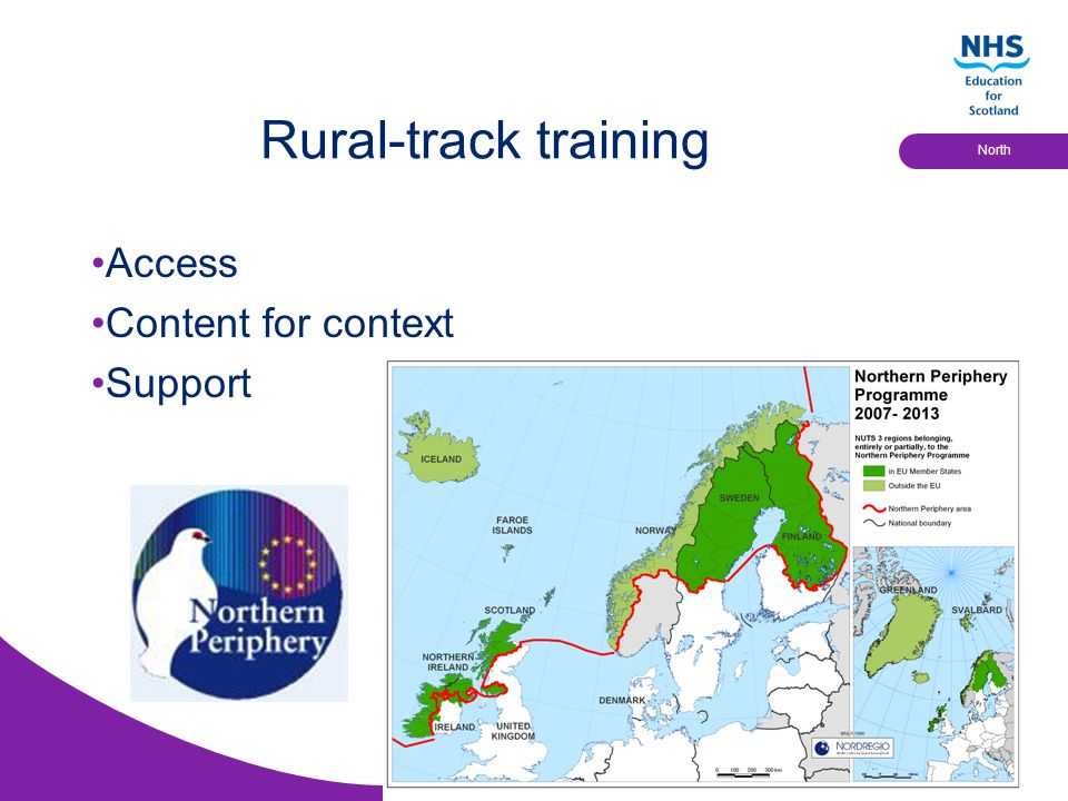 Educational Solutions for Workforce Development North Rural-track training Access Content for context Support