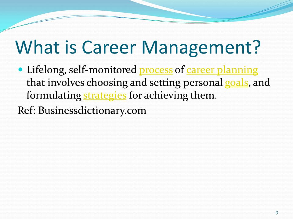 What is Career Management.