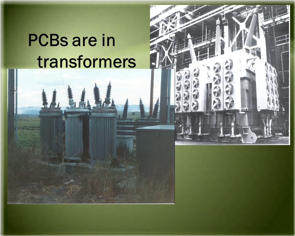 PCBs are in transformers