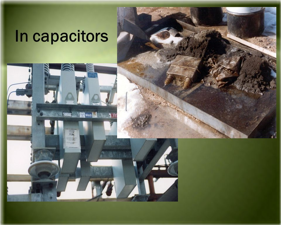 In capacitors