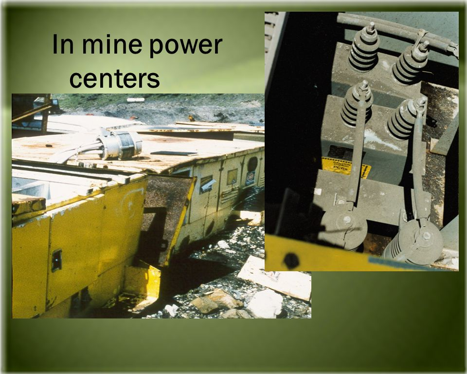 In mine power centers