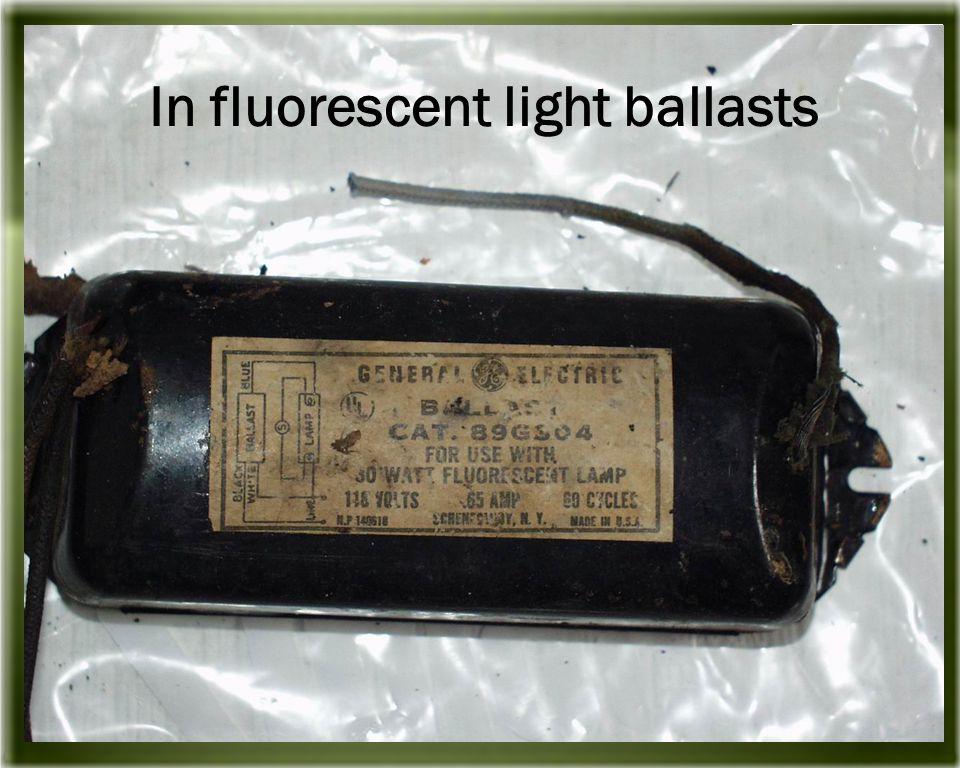 In fluorescent light ballasts