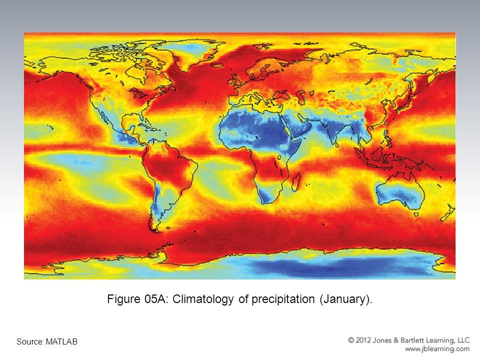 Figure 05B: Climatology of precipitation (July). Source: MATLAB