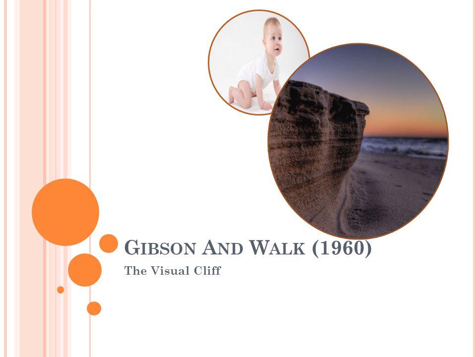 G IBSON A ND W ALK (1960) The Visual Cliff