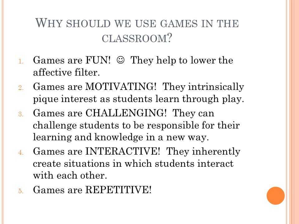 H OW SHOULD WE SELECT APPROPRIATE LEARNING GAMES .