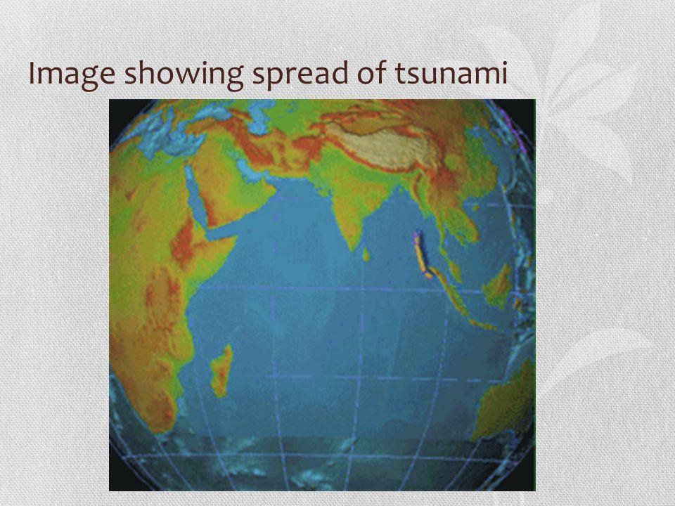 Image showing spread of tsunami