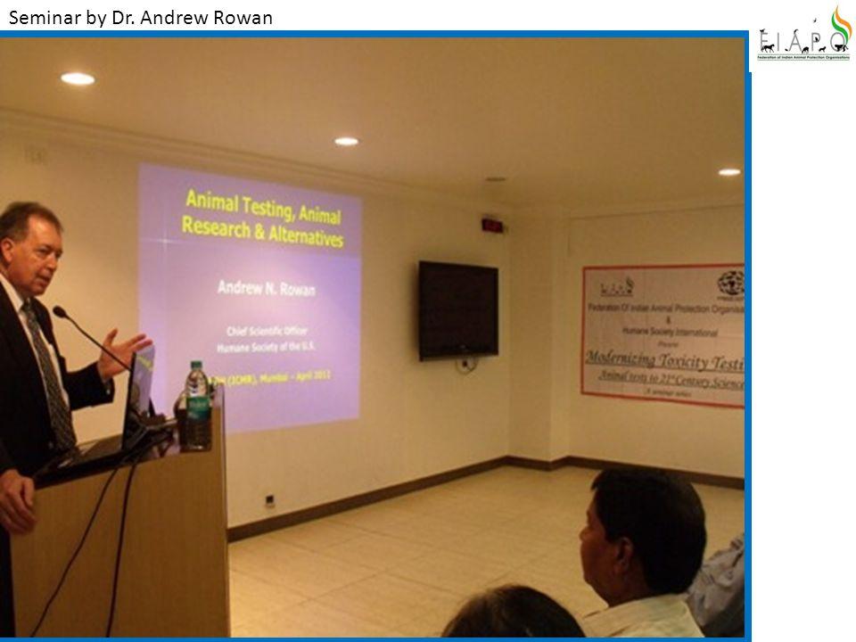 Seminar by Dr. Andrew Rowan