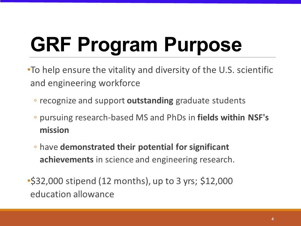 Take home points Understand: GRF Program Purpose Know: application components & review process Do: your homework Know: you are not alone.