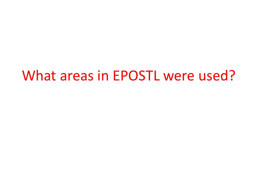 What areas in EPOSTL were used