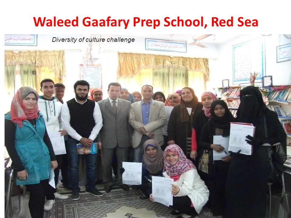 Waleed Gaafary Prep School, Red Sea Diversity of culture challenge