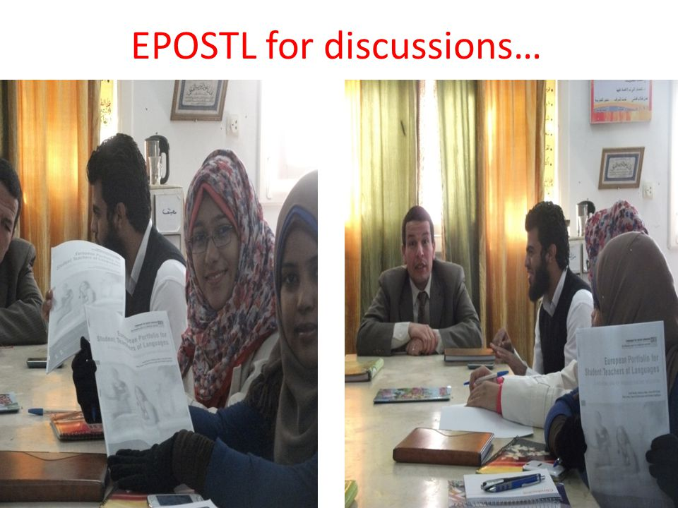 EPOSTL for discussions…