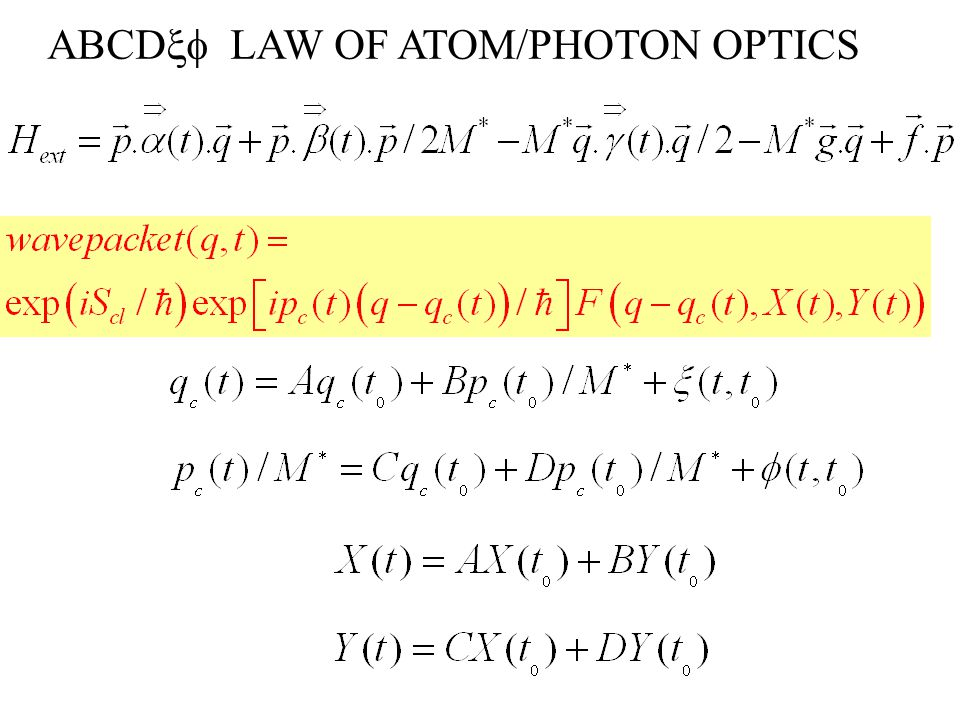 ABCD  LAW OF ATOM/PHOTON OPTICS