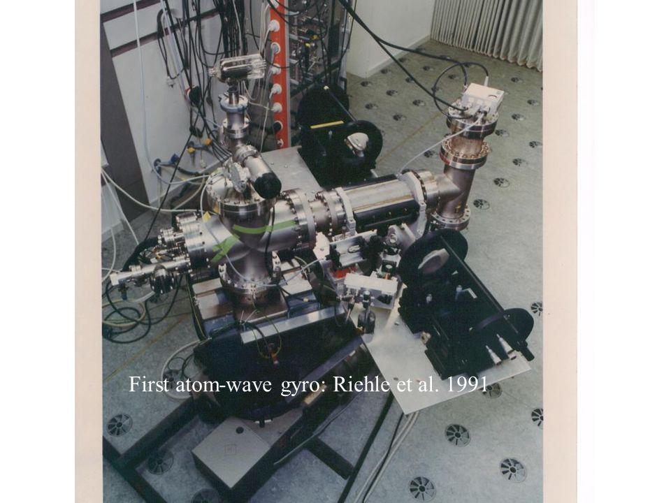 First atom-wave gyro: Riehle et al. 1991