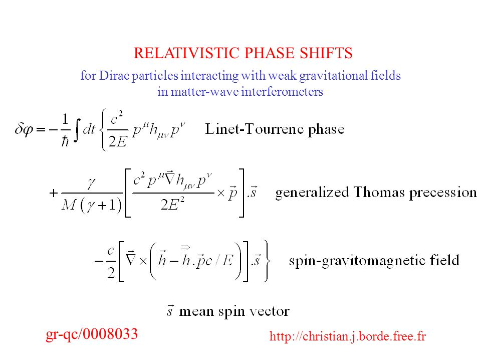 RELATIVISTIC PHASE SHIFTS   gr-qc/ for Dirac particles interacting with weak gravitational fields in matter-wave interferometers
