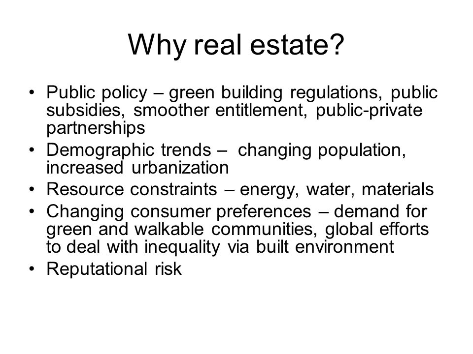 What do Responsible Investors need to invest in real estate.