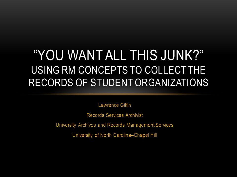 Todd Kosmerick University Archivist Special Collections Research Center North Carolina State University IN THEIR OWN VOICES: STUDENTS AND ORAL HISTORIES