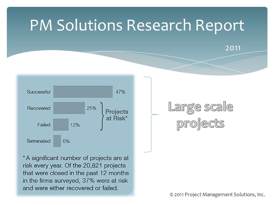 PM Solutions Research Report 2011 © 2011 Project Management Solutions, Inc.