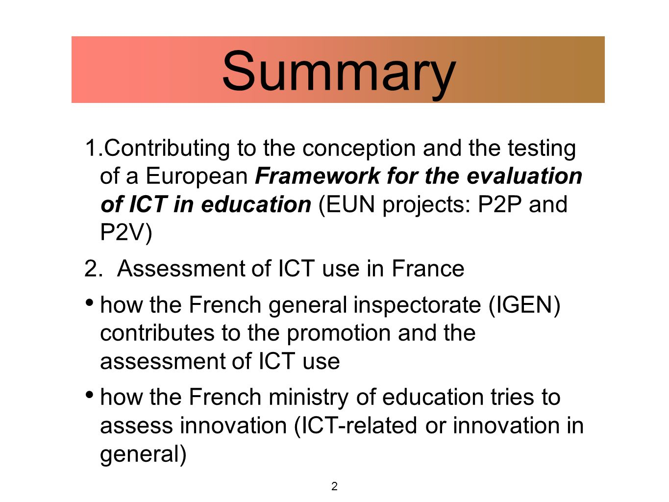 3 Why inspectors need to assess the use of ICT.1.