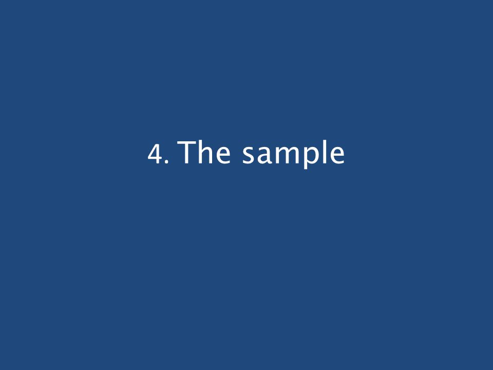 4. The sample