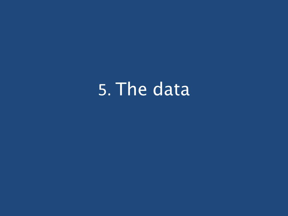 5. The data