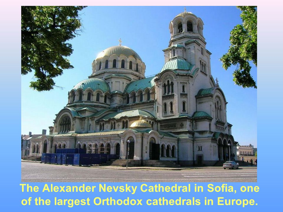 The Alexander Nevsky Cathedral in Sofia, one of the largest Orthodox cathedrals in Europe.