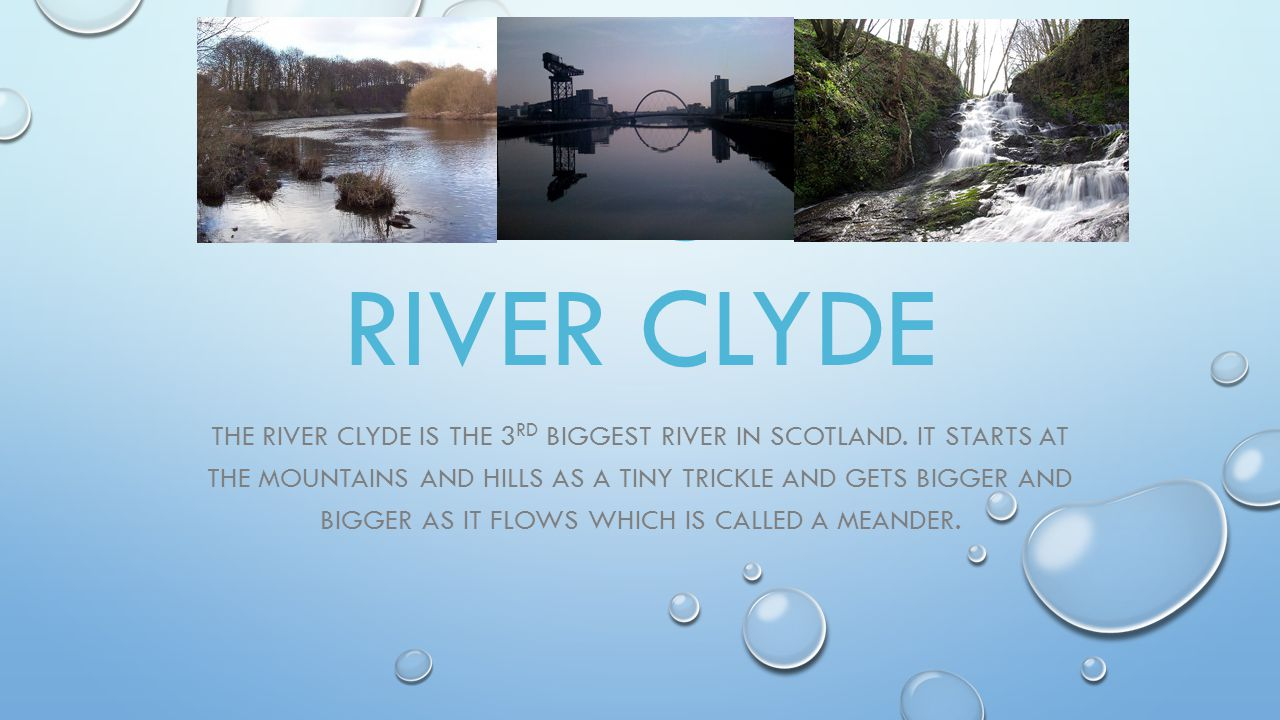 ART WORK RIVER CLYDE OUR CLASS CONCENTRATED ON THE RIVER CLYDE AND FALLS.