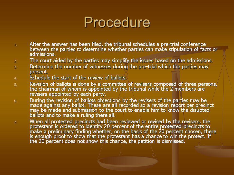 Procedure 1.