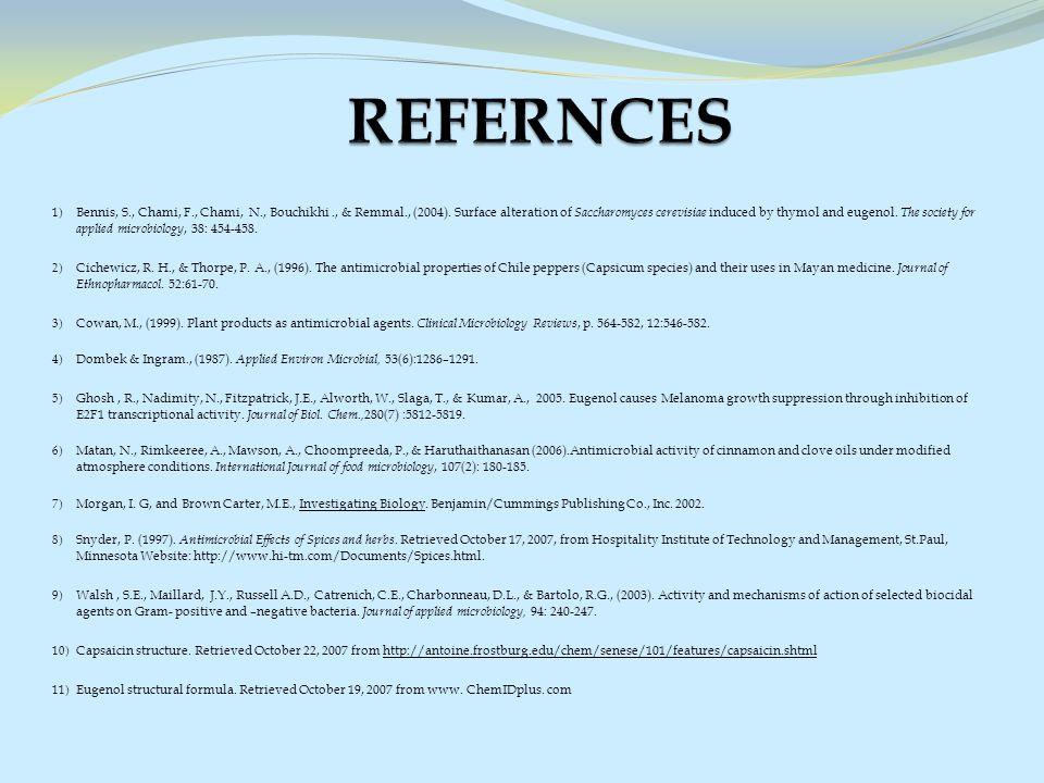 1) Bennis, S., Chami, F., Chami, N., Bouchikhi., & Remmal., (2004).