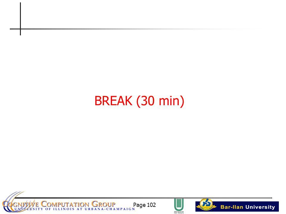 Page 102 BREAK (30 min)