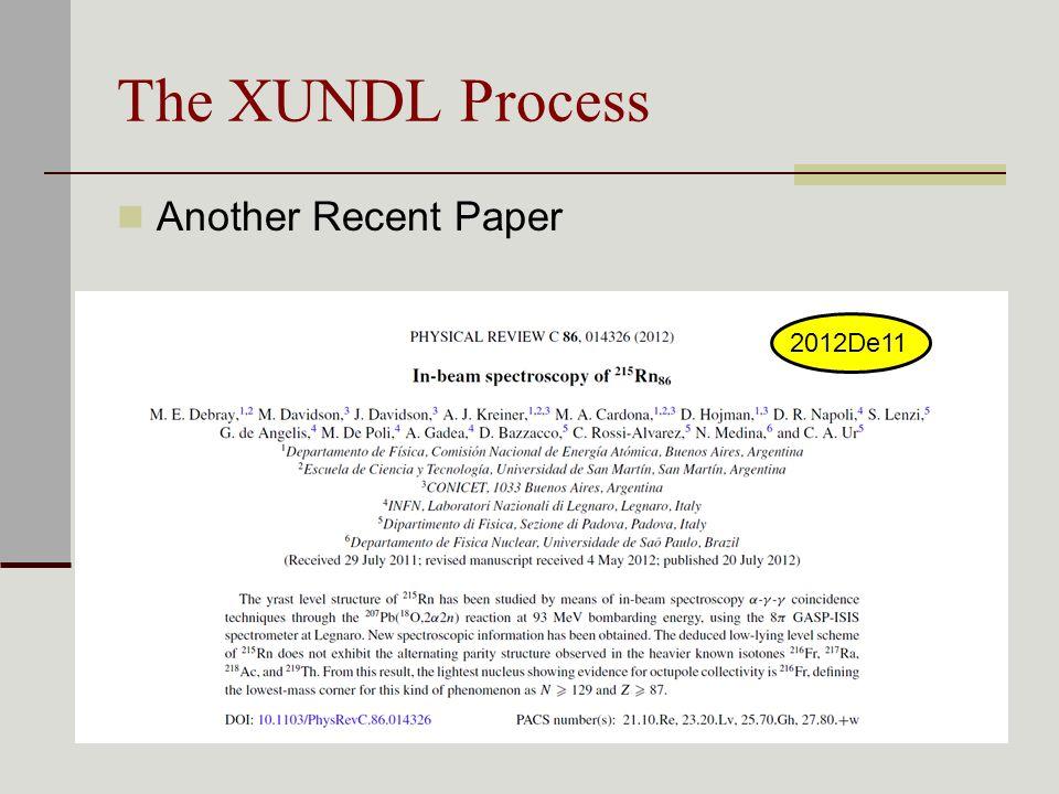 The XUNDL Process Another Recent Paper 2012De11