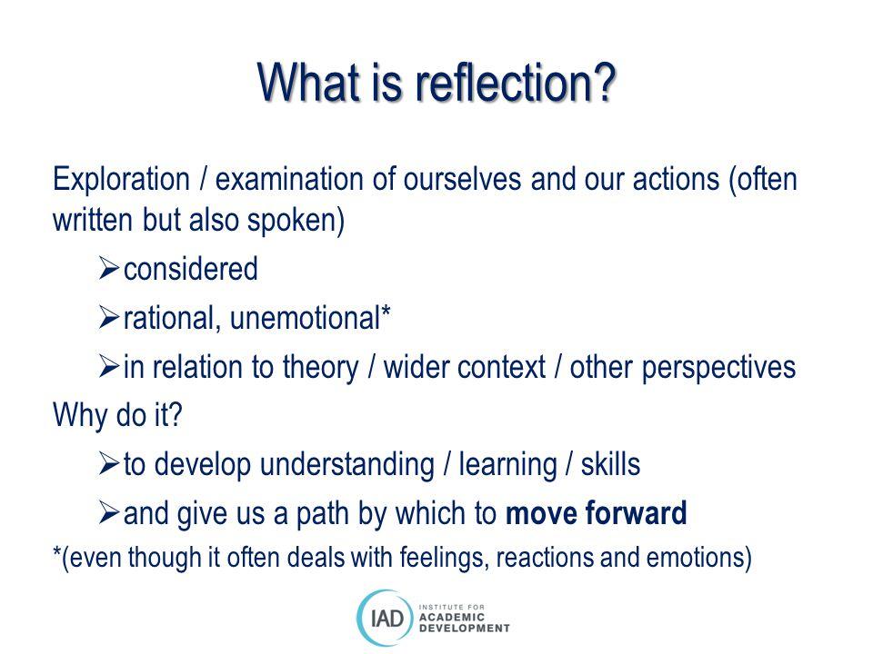 The basics: ExperienceReflectionAction