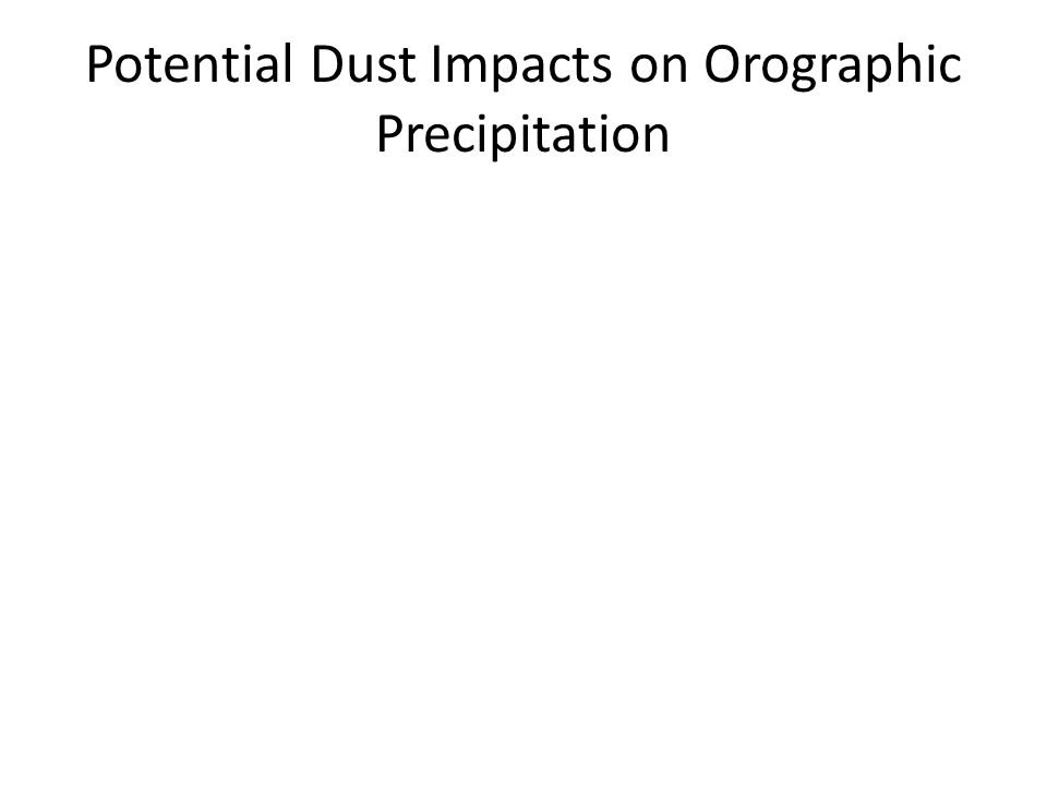 Potential Dust Impacts on Orographic Precipitation