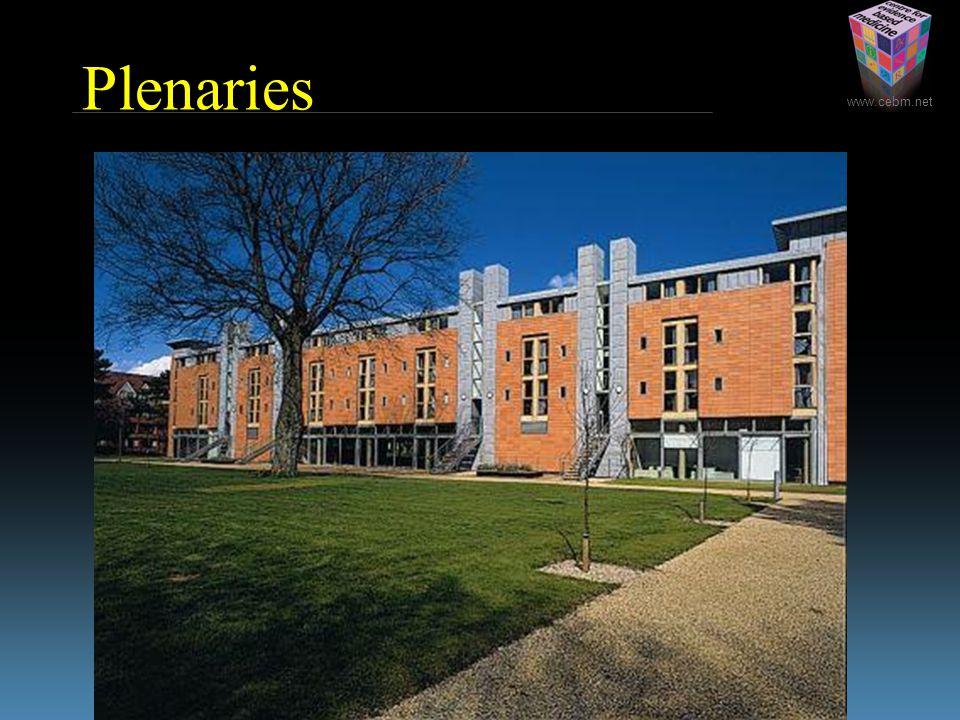 www.cebm.net Plenaries