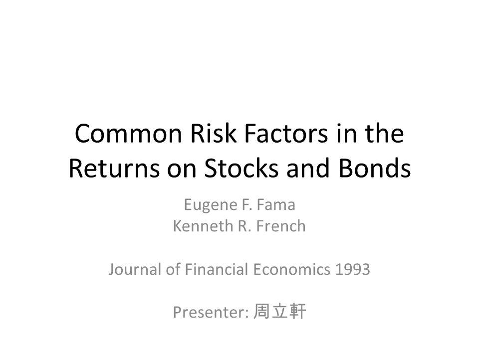 Main Result – Bond Market Factor