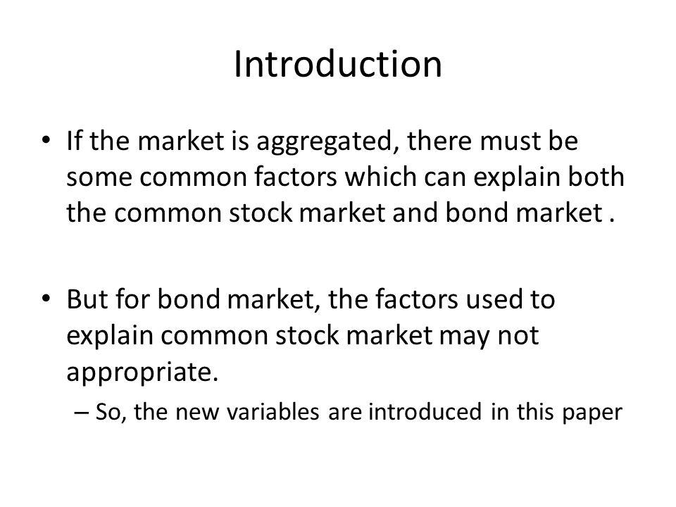 Main Result – Stock Market Factor