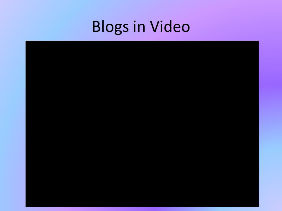 Blogs in Video