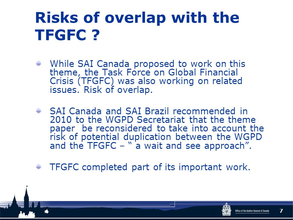 Risks of overlap with the TFGFC .