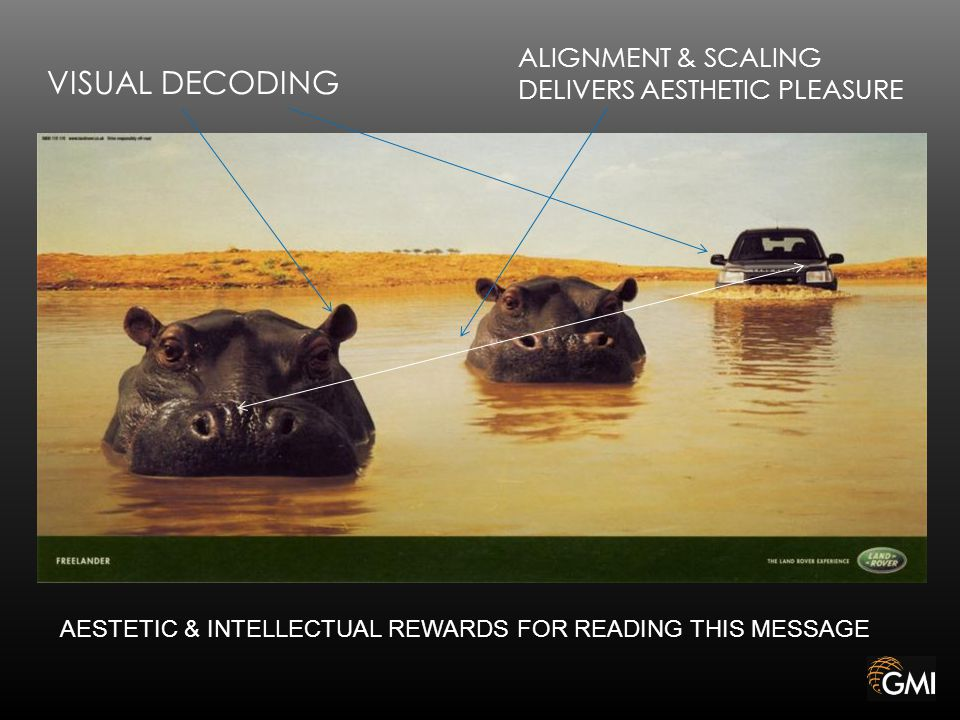 VISUAL DECODING ALIGNMENT & SCALING DELIVERS AESTHETIC PLEASURE AESTETIC & INTELLECTUAL REWARDS FOR READING THIS MESSAGE