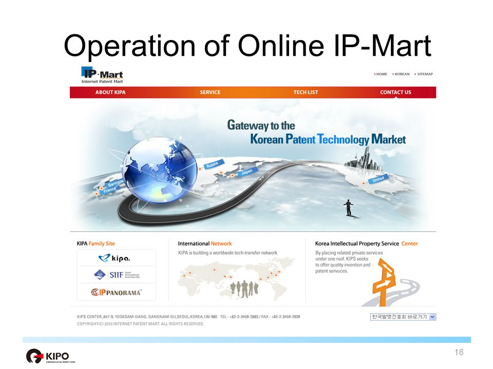 Operation of Online IP-Mart 18