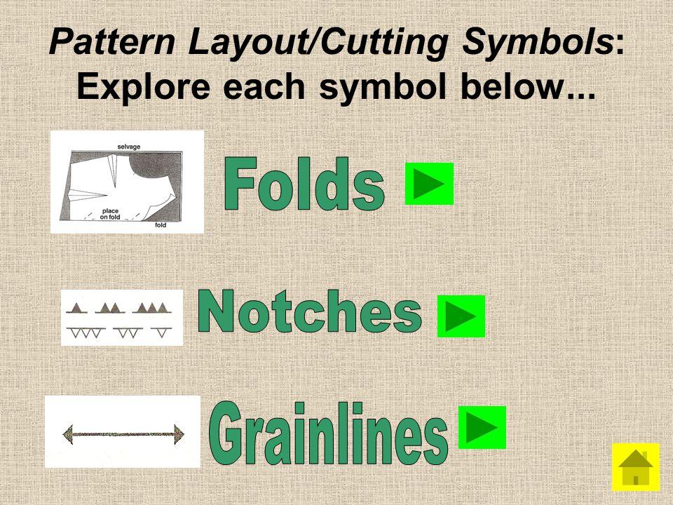Pattern Layout/Cutting Symbols: Explore each symbol below...