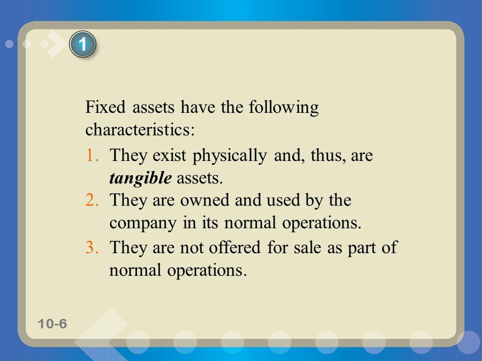 10-27 Factors in Computing Depreciation 1.The asset's initial cost.